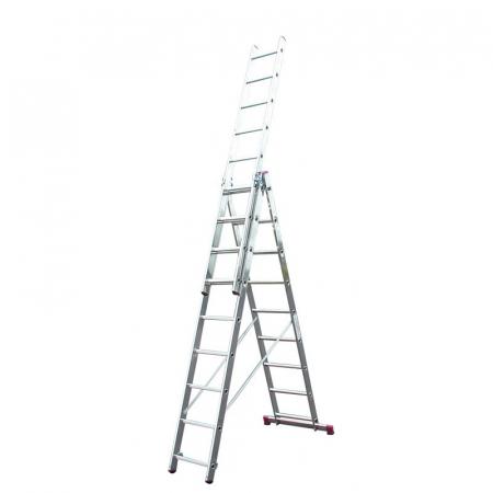 KRAUSE Corda Aлюминиевая лестница с доп. функцией 3Х9 ступ. (арт. 013392)