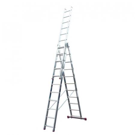 KRAUSE Corda Aлюминиевая лестница с доп. функцией 3Х11 ступ. (арт. 013422)