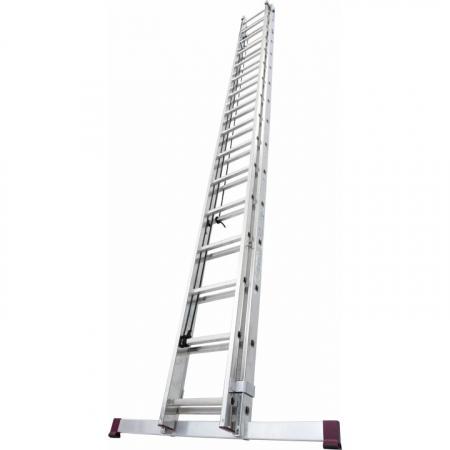 Алюминиевая лестница двухсекционная выдвигаемая тросом 2Х14 ступ. арт. 030511 (010513)