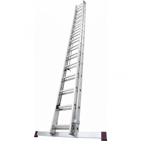 KRAUSE Алюминиевая двухсекционная лестница выдвигаемая тросом 2Х16 ступ. (арт. 031525)