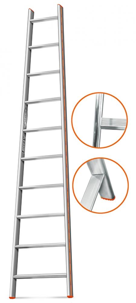 """ЭЙФЕЛЬ """"Комфорт-Профи-Пирамида"""" Приставная лестница 10 ступ."""