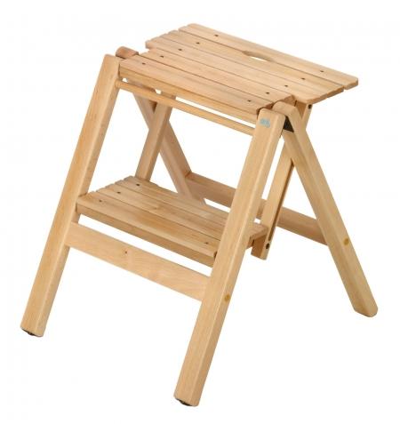 Стул-стремянка деревянная Biblio-2, цвет  бук (арт. 912B)