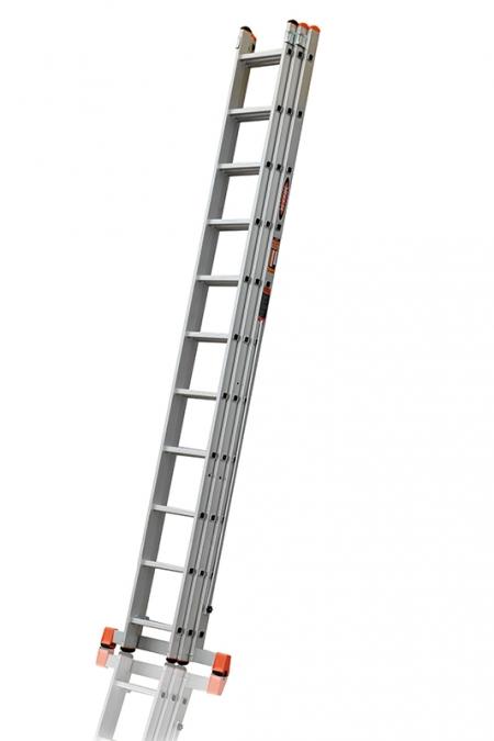 """ЭЙФЕЛЬ """"Премьер"""" Трехсекционная лестница алюминиевая бытовая 3Х11 ступ."""