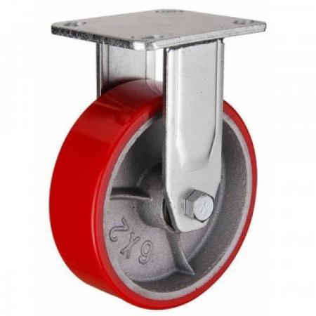 Колесо неповоротное, полиуретановое серии FCP - 100 мм. (арт. 580102)