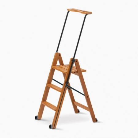 Деревянная лестница-стремянка 3 ступени Tuscania, вишня (арт. 170/3V)