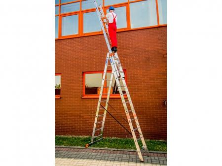 KRAUSE Tribilo Универсальная 3х-секционная лестница 3Х10 ступ. (арт. 129680)