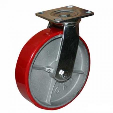 Колесо полиуретановое поворотное серии SCP - 200 мм. (арт. 590202)