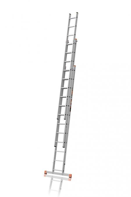 """ЭЙФЕЛЬ """"Премьер"""" Трехсекционная лестница алюминиевая бытовая 3Х12 ступ."""