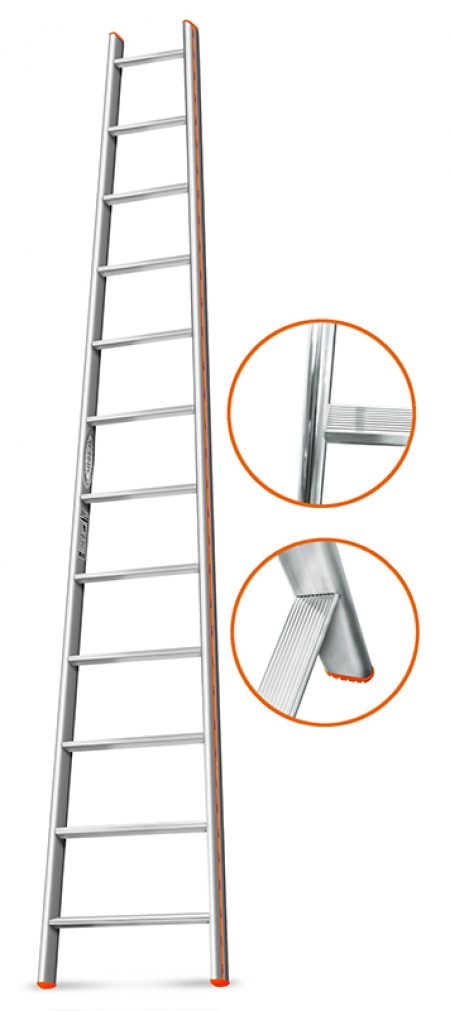 """ЭЙФЕЛЬ """"Комфорт-Профи-Пирамида"""" Приставная лестница 14 ступ."""