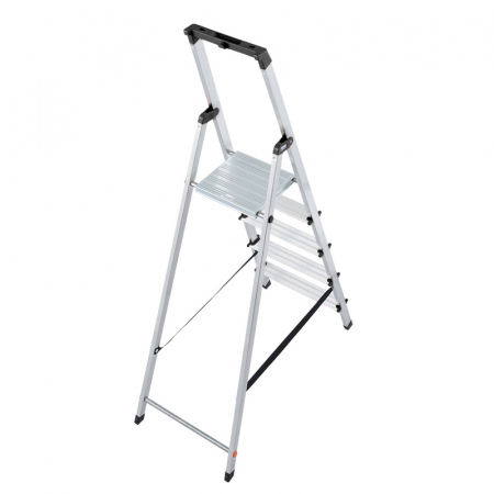 KRAUSE Solidy Cвободностоящая алюминиевая стремянка 5 ступ. (арт. 126238)