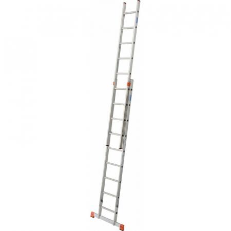 KRAUSE Fabilo Двухсекционная выдвижная лестница 2Х9 ступ. (арт. 129277)