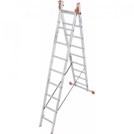KRAUSE Dubilo Универсальная двухсекционная лестница 2Х9 ступ. (арт. 129475)