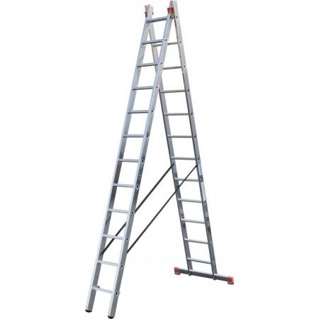 KRAUSE Dubilo Универсальная двухсекционная лестница 2Х12 ступ. (арт. 129505)