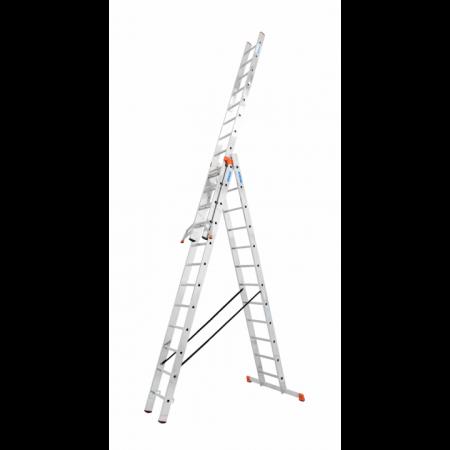 Универсальная 3-секционная лестница 3x12 с доп. функ. Tribilo Krause