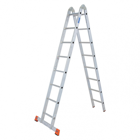 Trimatic алюминиевая двухсекционная шарнирная лестница  2Х8 арт.129918 (121332)