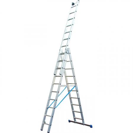 KRAUSE Stabilo Профессиональная 3х-секционная лестница с доп.функцией 3Х9 ступ. (арт. 133755)