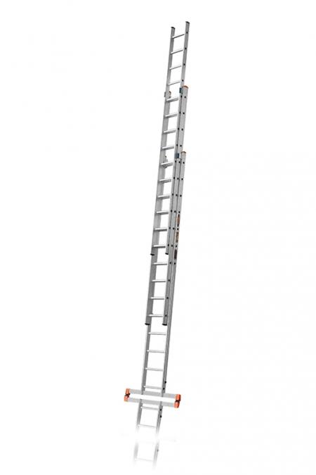 """ЭЙФЕЛЬ """"Премьер"""" Трехсекционная лестница алюминиевая бытовая 3Х14 ступ."""