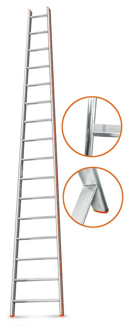 """ЭЙФЕЛЬ """"Комфорт-Профи-Пирамида""""  Приставная лестница 16 ступ."""