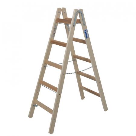 Деревянная лестница-стремянка с перекладинами 2х5 Krause