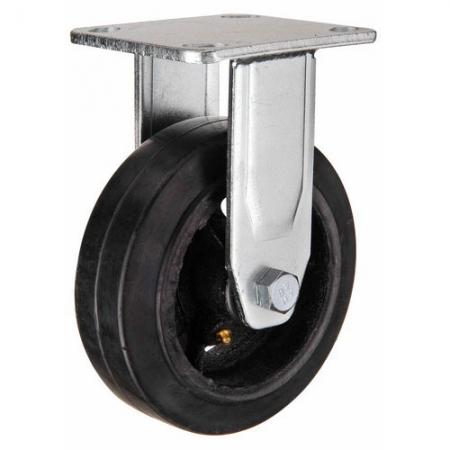Колесо большегрузное неповоротное, обрезиненное серии FCD - 100 мм. (арт. 550100)