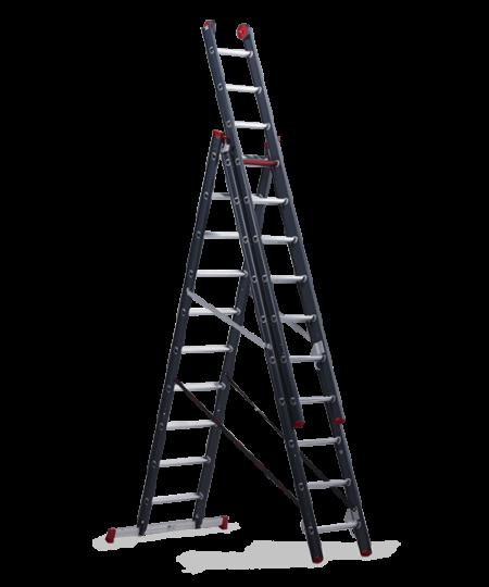 ALTREX Atlantis Трехсекционная анодированная лестница 3Х12 ступ. (арт. 119312)