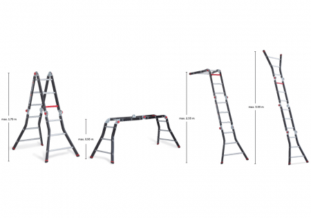 Шарнирная лестница-трансформер Altrex Varitrex Prof