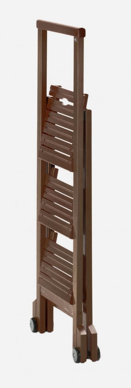 Стул-стремянка деревянная Biblio-3, цвет венге (арт. 913VE)