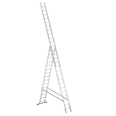 Алюминиевая 3-секционная лестница-стремянка Alpos 3Х15