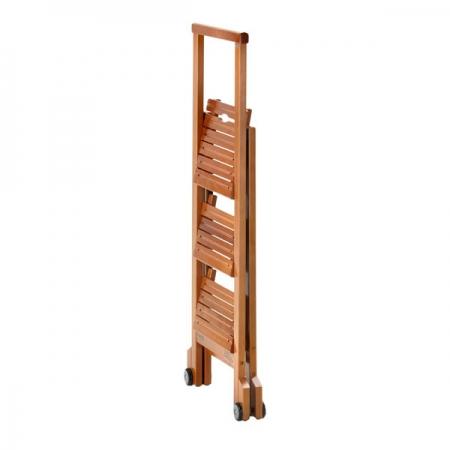 Стул-стремянка деревянная Biblio-3, цвет вишня (арт. 913VI)