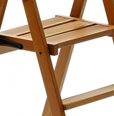 Деревянная стремянка Kimora 3 ступ, вишня (арт. 180/3V)