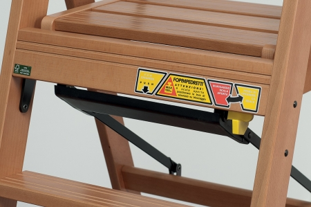Стремянка деревянная Lascala 5 ступеней, цвет Каналетто (арт. LS5K)