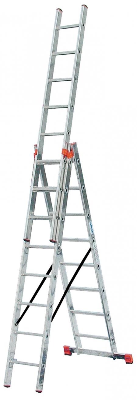 Универсальная 3-секционная лестница 3x8 Tribilo Krause