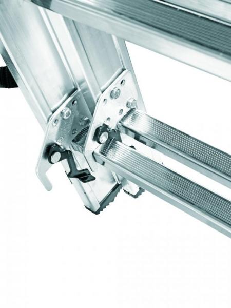 ALPOS Алюминиевая 3-секционная лестница-стремянка 3Х8 ступ. (арт. 3808)