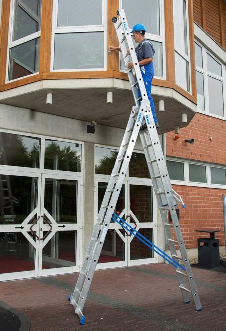 Профессиональная 3-секционная лестница с доп.функцией 3x10 Stabilo Krause