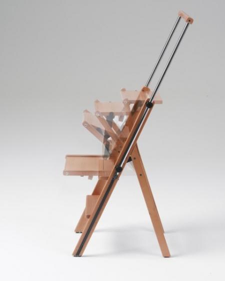 Стремянка Eletta 4 ступени, вишня (арт. 175)