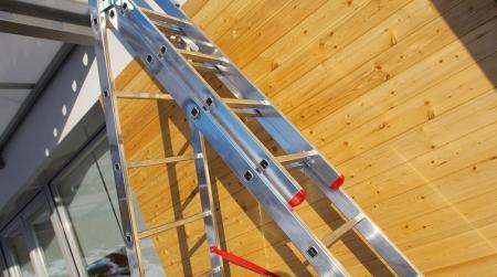 ALPOS Алюминиевая 3-секционная лестница-стремянка 3Х8 (арт. 4408)