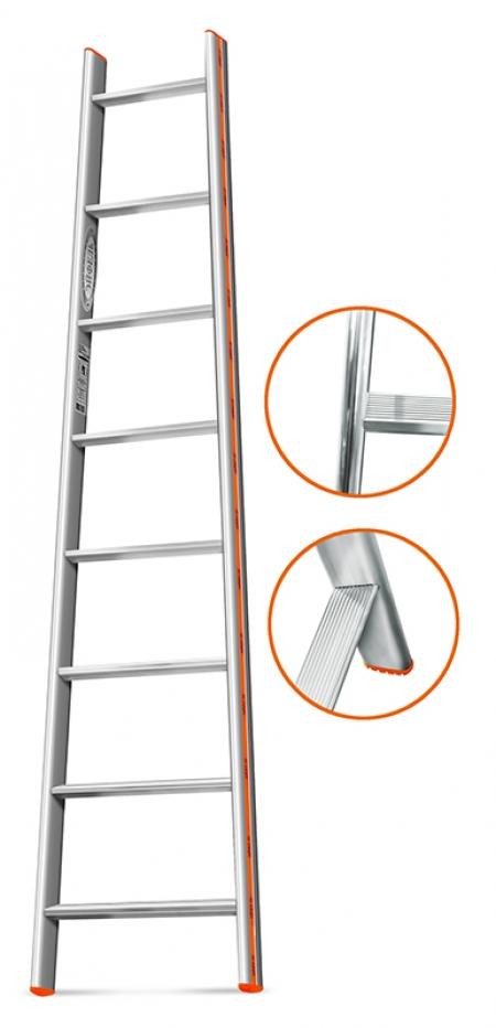 """ЭЙФЕЛЬ """"Комфорт-Профи-Пирамида"""" Приставная лестница 8 ступ."""
