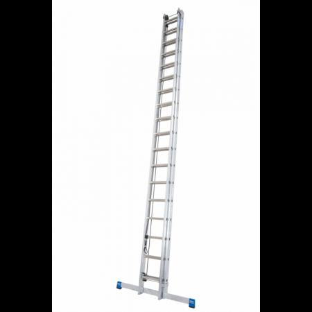 KRAUSE Stabilo Профессиональная трехсекционная лестница выдвигаемая тросом 3Х16 ступ. (арт. 800763)