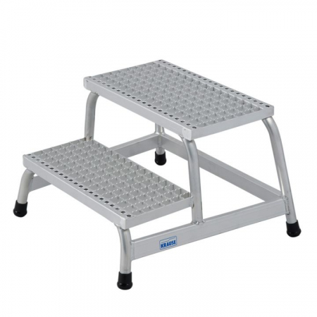 KRAUSE Подставка алюминиевая с решетчатыми ступенями 2 ступ. (арт. 805324)