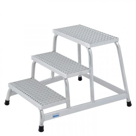 KRAUSE Подставка алюминиевая с решетчатыми ступенями 3 ступ. (арт. 805331)