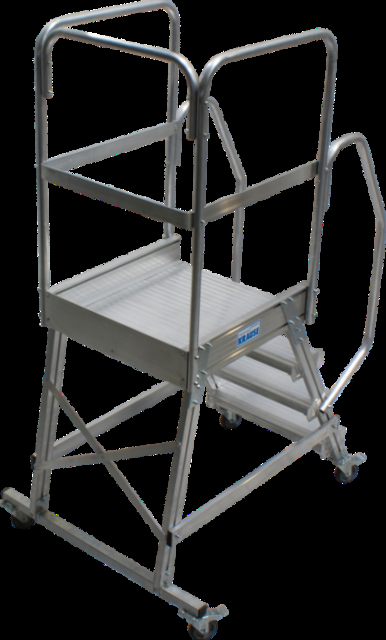 Лестница с площадкой Krause 4 ступени