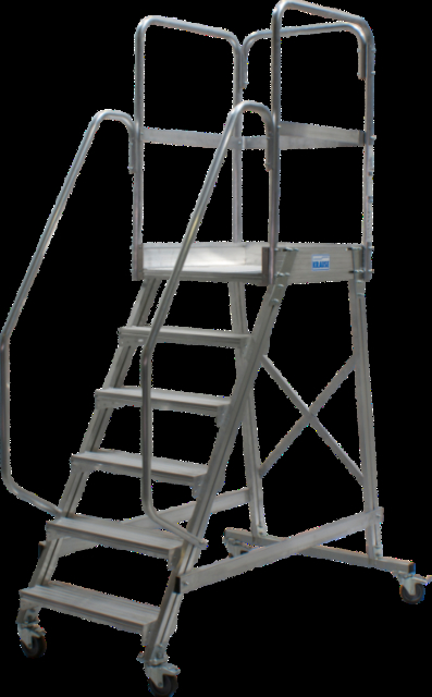 Лестница с площадкой Krause 6 ступеней