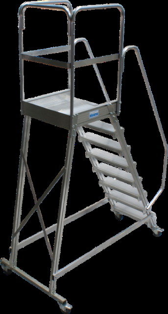 Лестница с площадкой Krause 8 ступеней