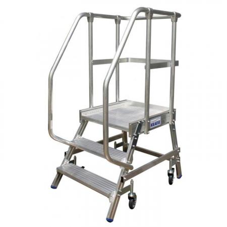 KRAUSE Stabilo Односторонняя передвижная лестница с платформой 3 ступ. (арт. 820136)