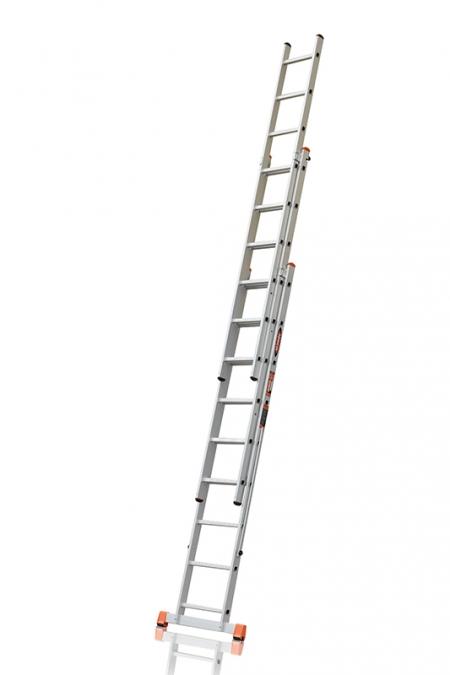 """ЭЙФЕЛЬ """"Премьер"""" Трехсекционная лестница алюминиевая бытовая 3Х9 ступ."""