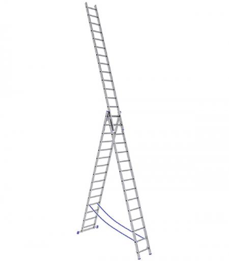 STAIRS Универсальная трехсекционная лестница 3х14 ступ. (арт. AL314)