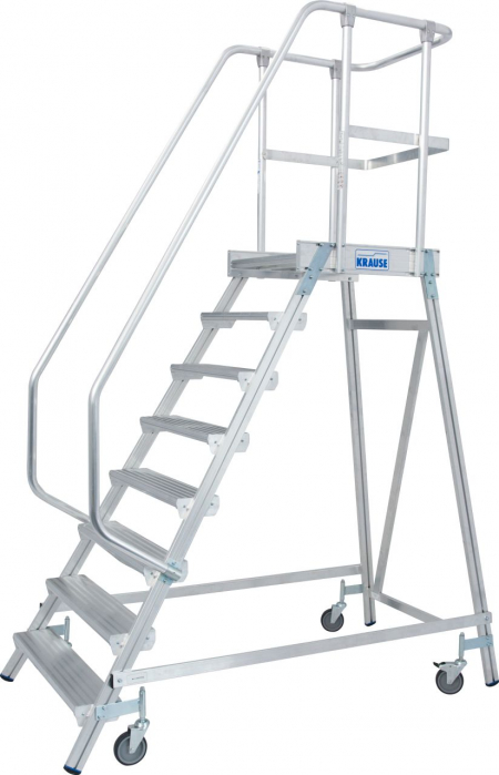 KRAUSE Stabilo Односторонняя передвижная лестница с платформой 8 ступ. (арт. 820181)