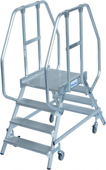 KRAUSE Stabilo Двухсторонняя передвижная лестница с платформой 2Х4 ступ. (арт. 820242)
