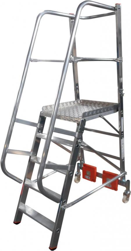 KRAUSE Stabilo Vario Kompakt Лестница с платформой 5 ступ. траверса 750 (арт. 833006)