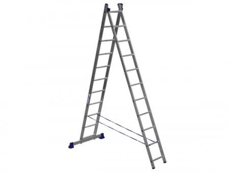 ALUMET Алюминиевая двухсекционная лестница 2Х11 ступ. (арт. 5211)